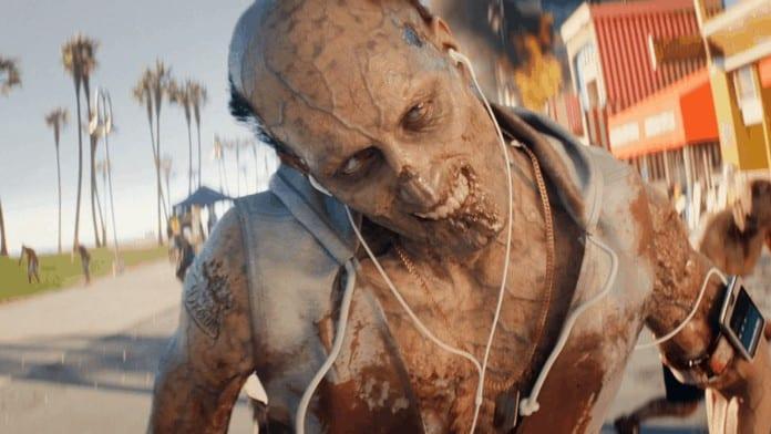 Dead Island 2 zombie with headphones
