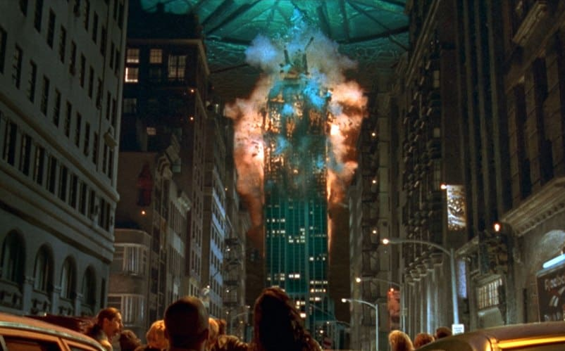 Independence day building exploding