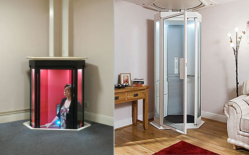 Futuristic lifestyle home elevator for Small elevators for homes