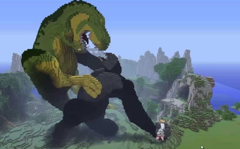 minecraft v t-rex