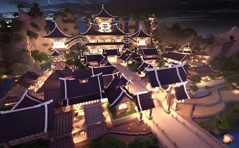 oriental town minecraft