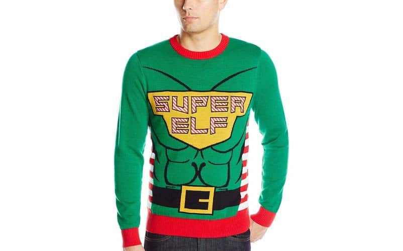super elf sweater