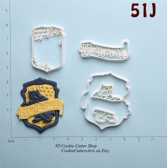 hufflepuff cookie cutters