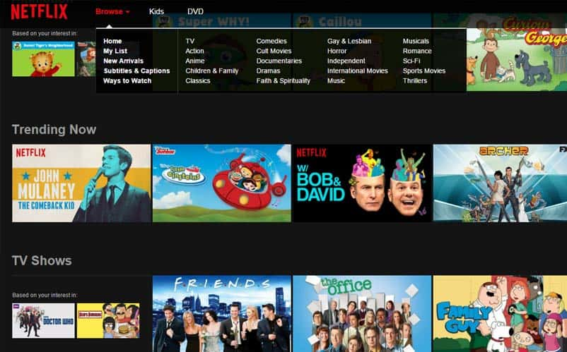 List Movies Streaming On Netflix