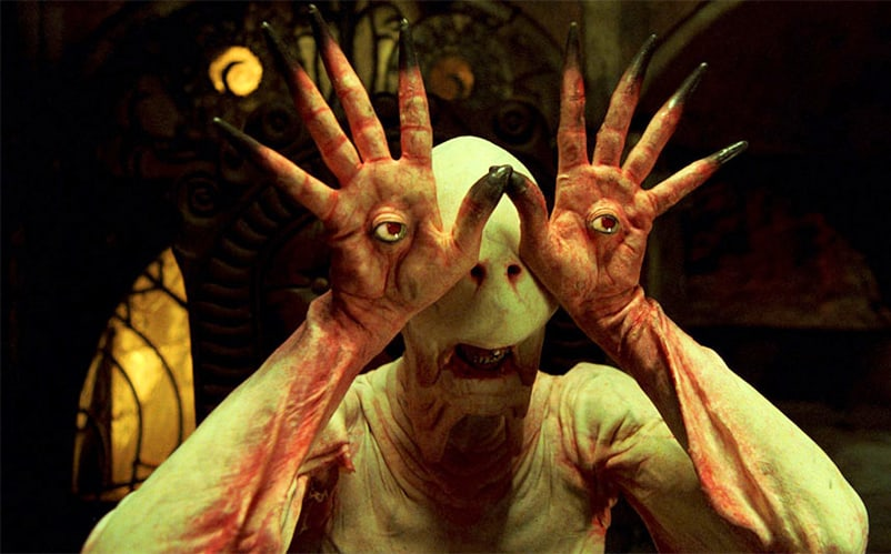 Pan's Labyrinth isn't actually considered a horror movie, but I think this monster design made it pretty clear Del Toro is well equipped to give us nightmares.