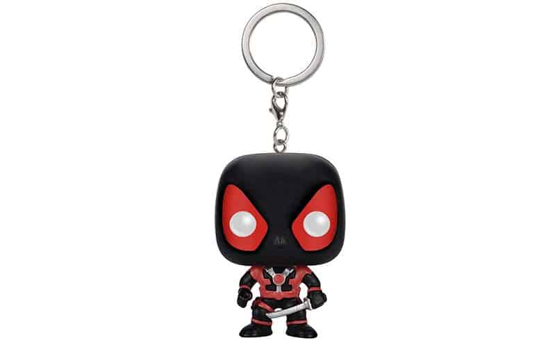 Funko black and red keychain