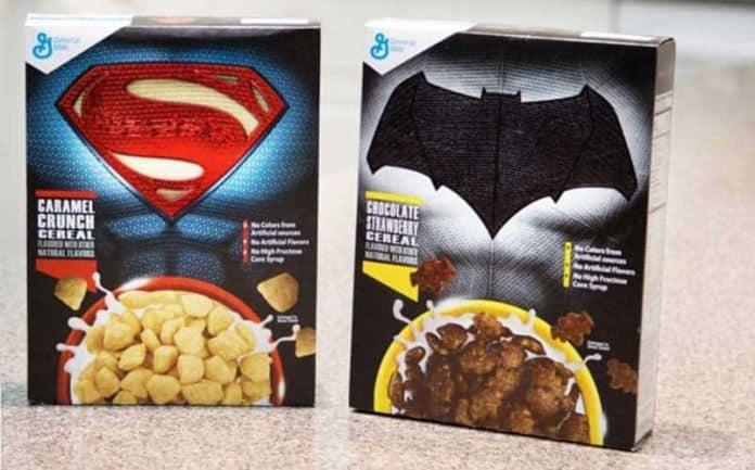 Batman v Superman cereal