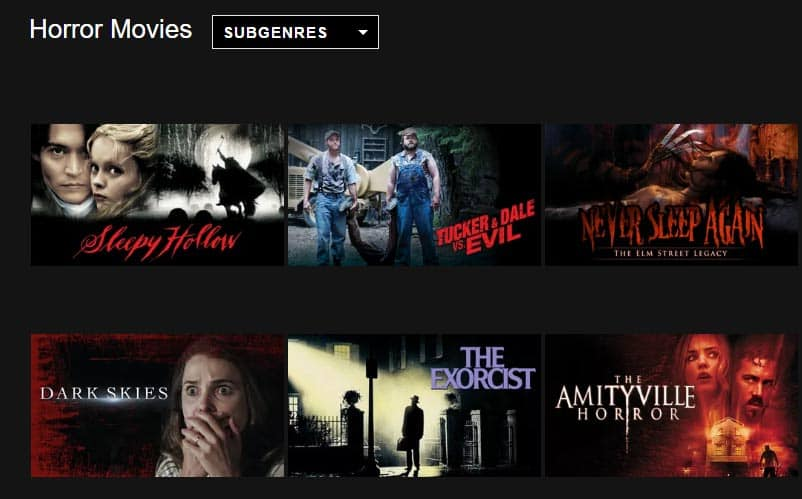 Netflix horror movies october 2016