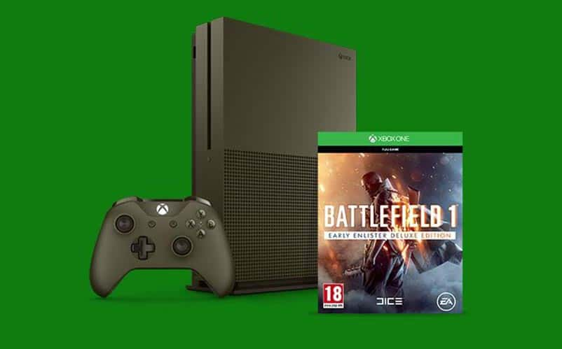 Battlefield 1 Gets a Military Green Xbox One S Bundle