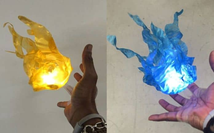 Floating fire ball prop cosplay