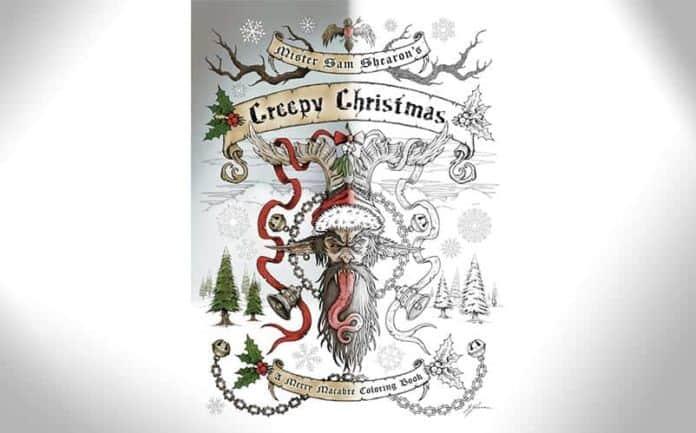 creepy christmas coloring book