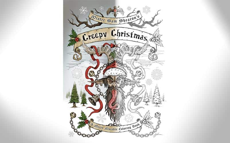 creepy christmas coloring book