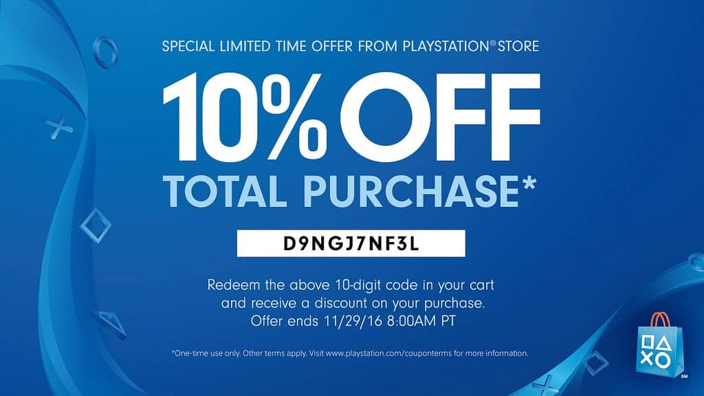 Playstation coupon codes