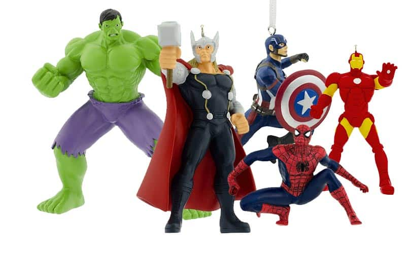 hallmark marvel holiday ornaments
