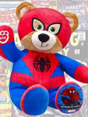 Spider-Man Bear Available Now At Build-A-Bear