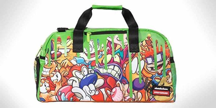 sprayground Nickelodeon 90s slime duffle bag