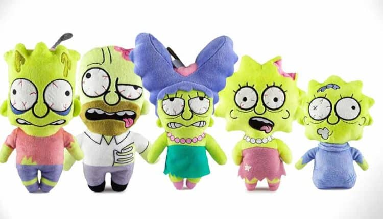 Zombie Simpsons Plushes by KidRobot