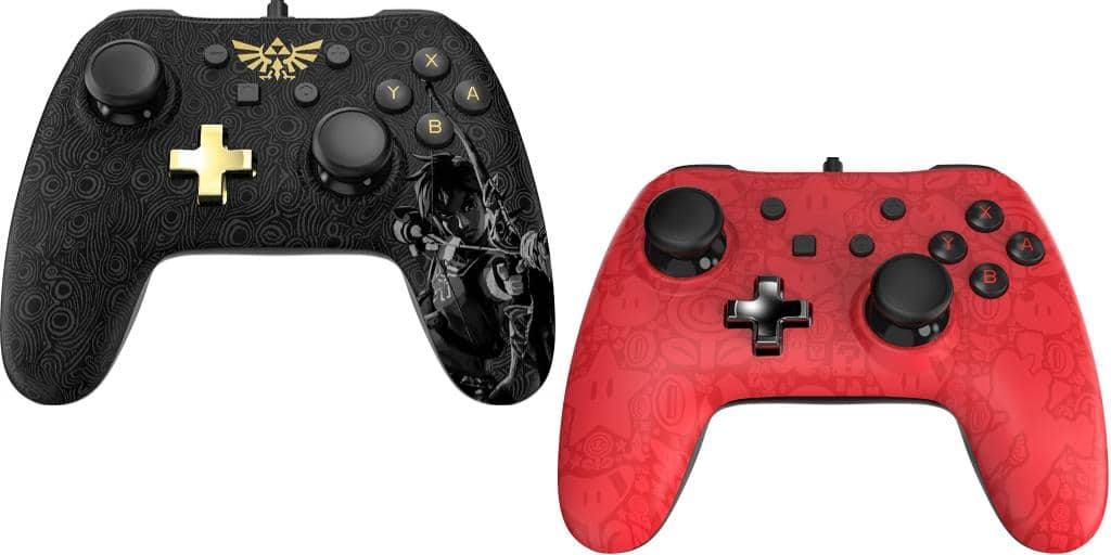 Nintendo switch zelda and mario themed controllers for Housse zelda switch