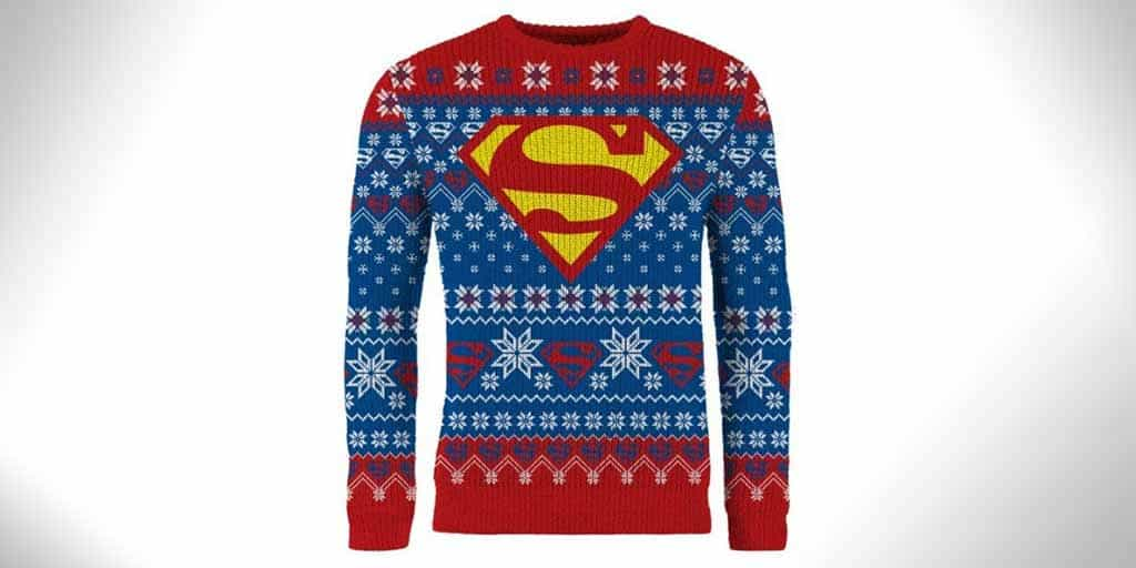 superman christmas sweater
