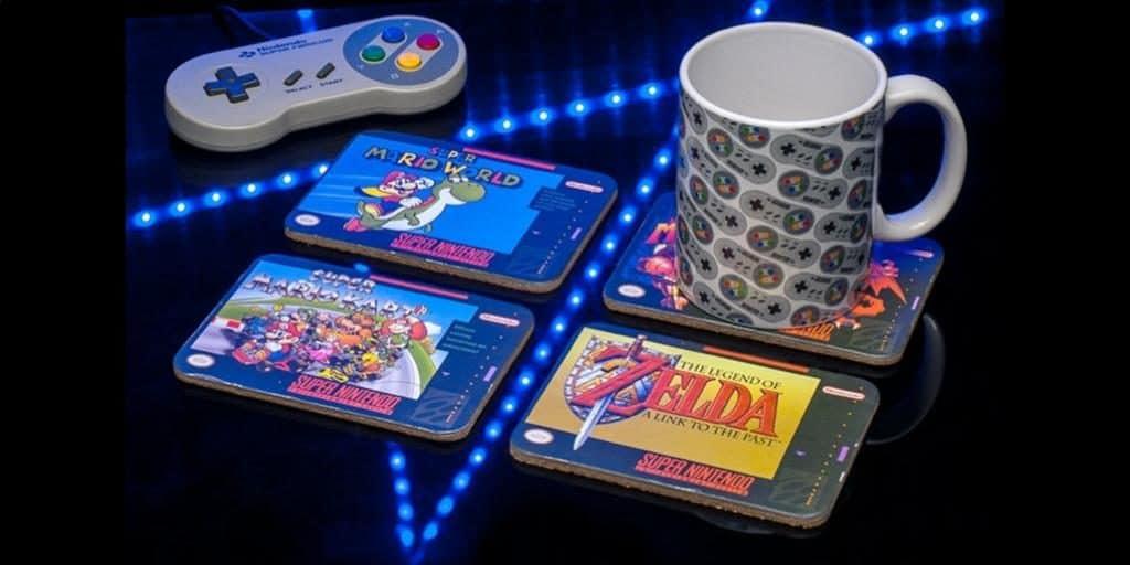 16 Bit Nintendo Coasters Set