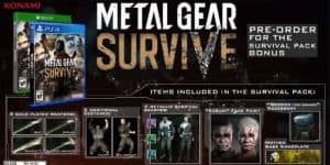Metal Gear Survive Pre-Order Bonuses