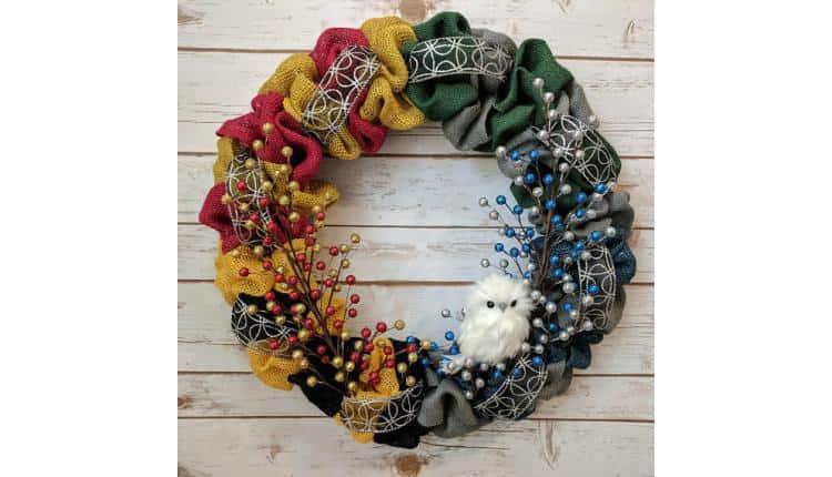 Hogwarts House Wreath