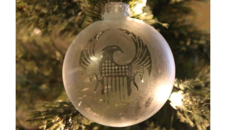 Etched Glass MACUSA Tree Ornament