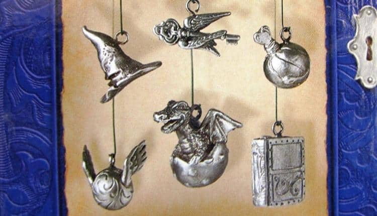 Pewter Hallmark Charm Ornaments