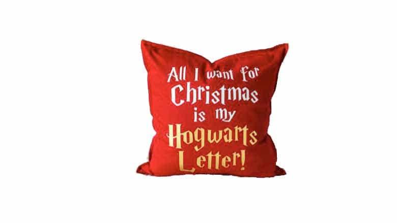 hogwarts letter pillow