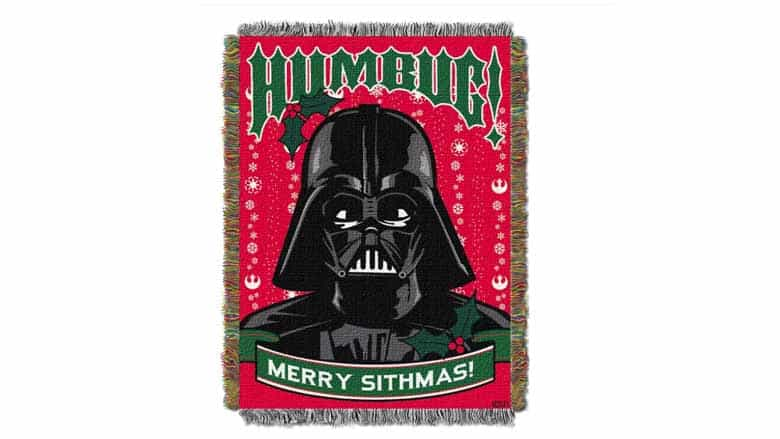 star wars christmas throw