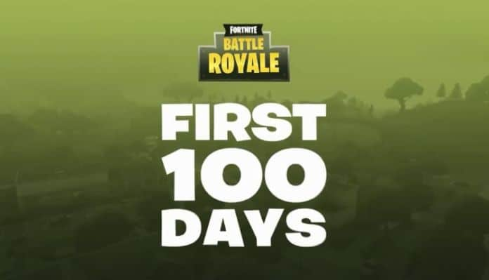 Fortnite Battle Royale First 100 Days