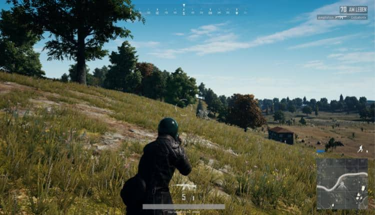 PUBG gameplay with a satellite map mod.