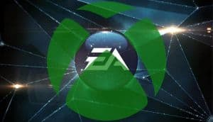 The EA logo overlaid with the Xbox logo.