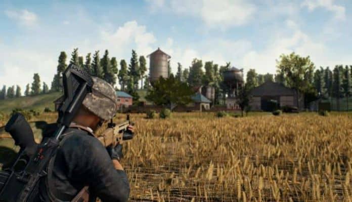 A screenshot of PUBG gameplay