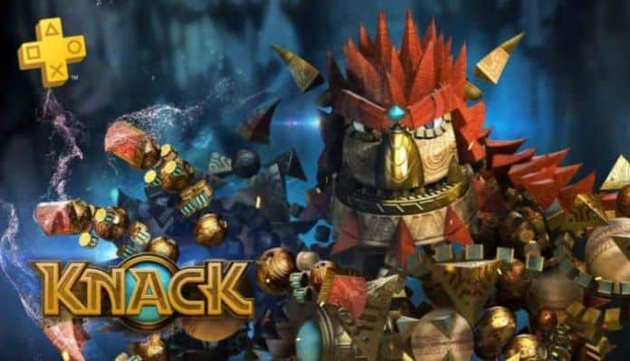Promotional image from Knack now free on PlayStation Plus