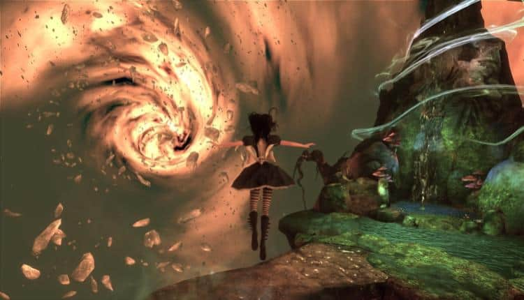A screenshot of Alice Madness Returns gameplay