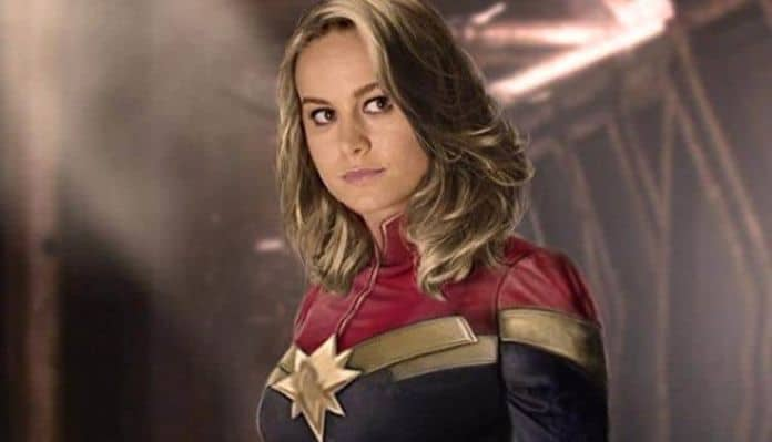Early promotional image for the upcoming Captain Marvel movie