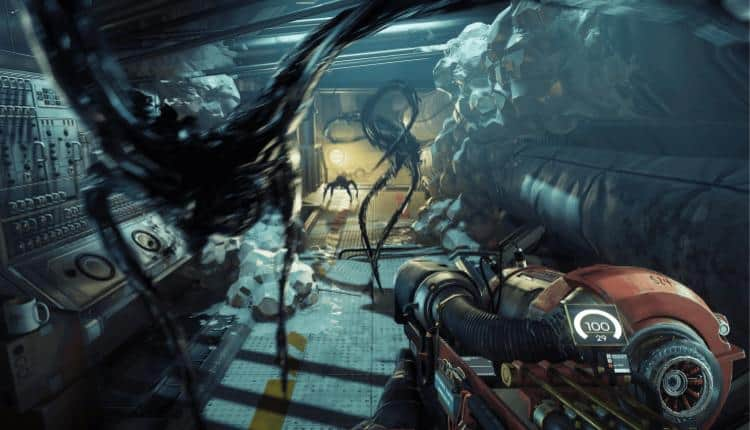 A promotional image of Prey gameplay