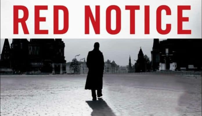 An edited cover of Red Notice the book the movie is based on
