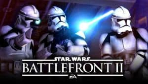 Three Stormtroopers from EA's Star Wars: Battlefront II