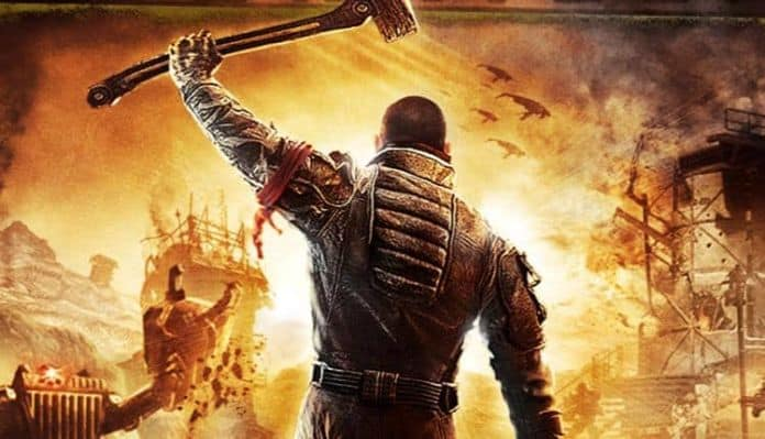 The front cover for Red Faction Guerrilla