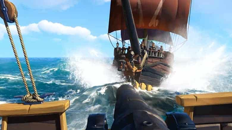 sea of thieves canon fire