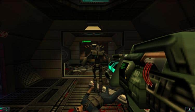 A screenshot of System Shock 2 gameplay