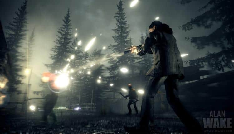 A screenshot of Alan Wake gameplay