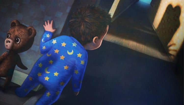 A promotional image for Among the Sleep