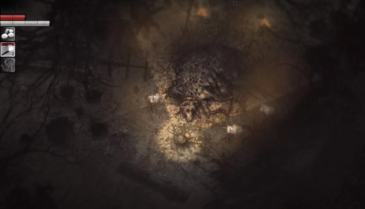 A screenshot of Darkwood gameplay