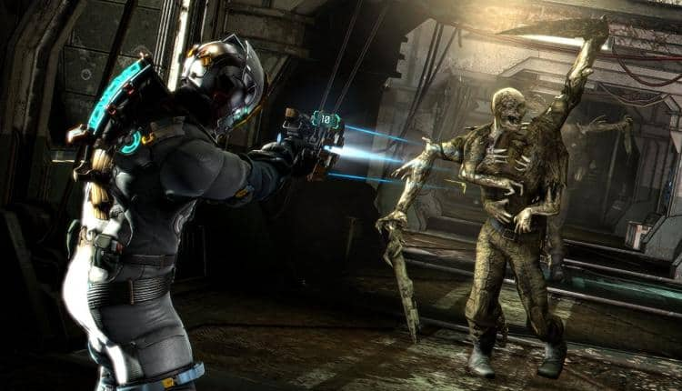 A screenshot of Dead Space gameplay