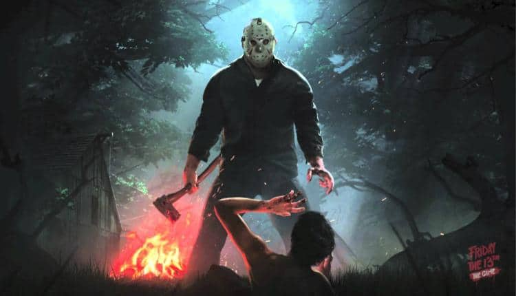 A promotional image for Friday the 13th The Game