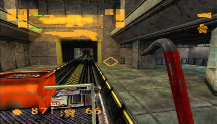 A screenshot of Half-Life gameplay