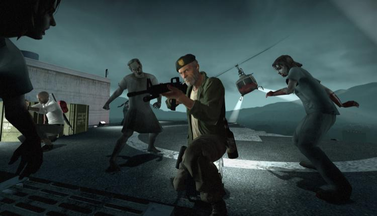 A screenshot of a Left 4 Dead cutscene